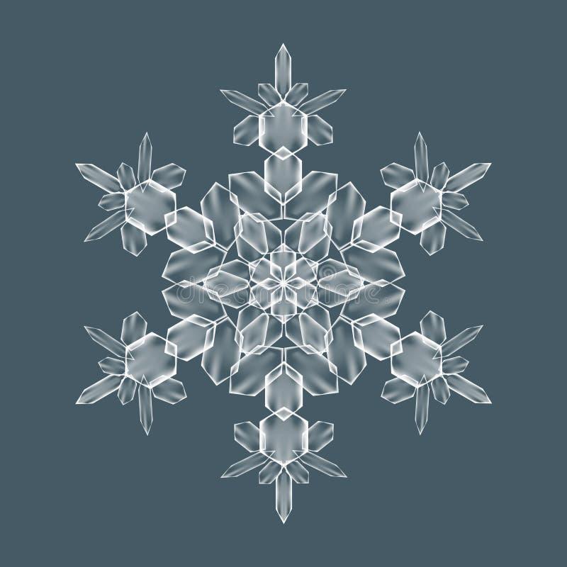 Διακοσμητική νιφάδα χιονιού απεικόνιση αποθεμάτων