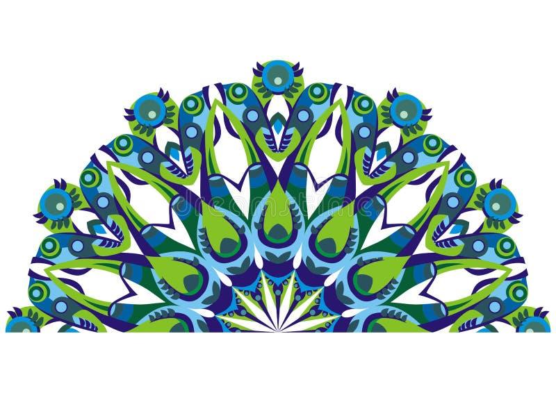 διακοσμητική ουρά peacocks ελεύθερη απεικόνιση δικαιώματος