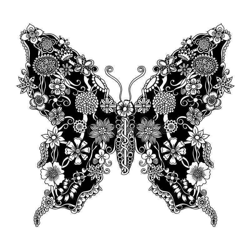 Διακοσμητική περίκομψη πεταλούδα ελεύθερη απεικόνιση δικαιώματος