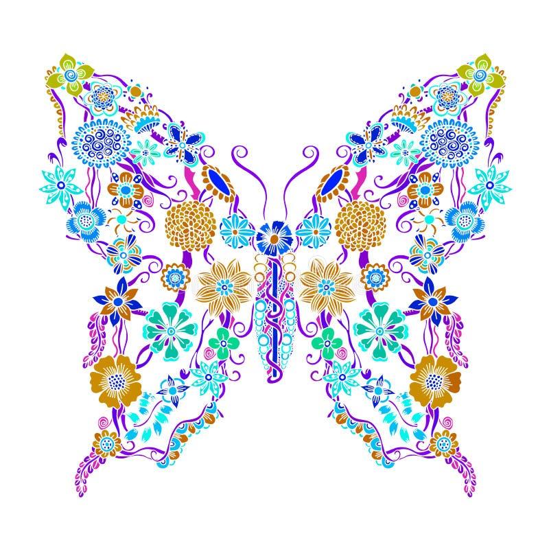 Διακοσμητική περίκομψη πεταλούδα απεικόνιση αποθεμάτων