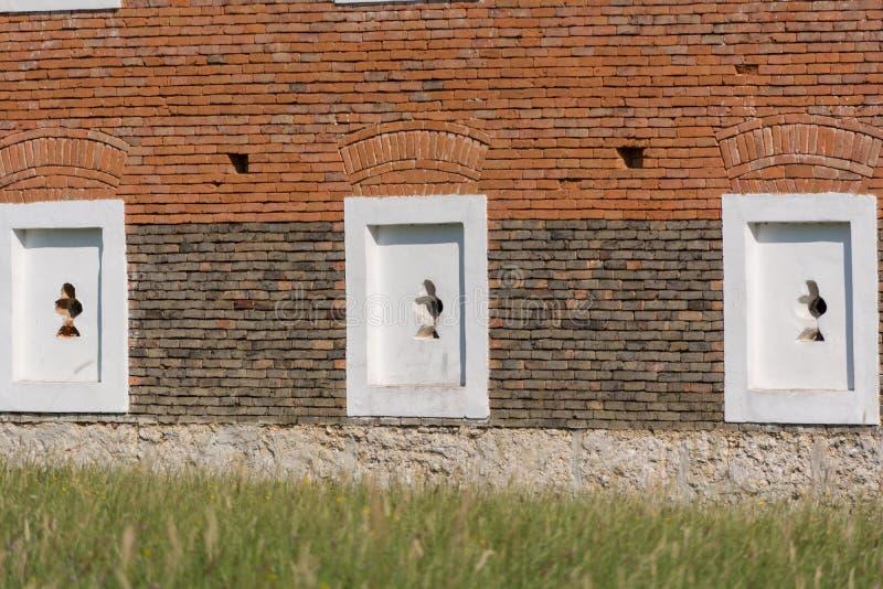 Διακοσμητική τεκτονική των τούβλων κλίνκερ στοκ εικόνες με δικαίωμα ελεύθερης χρήσης