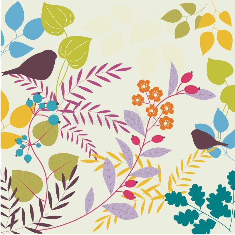 Διακοσμητική floral ανασκόπηση διανυσματική απεικόνιση