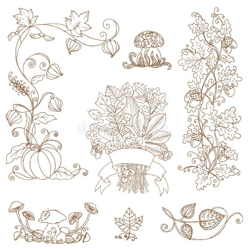 Διακοσμητικοί κλάδοι φθινοπώρου απεικόνιση αποθεμάτων
