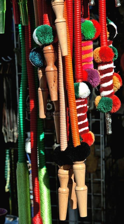 Διακοσμητικοί υφαμένοι σωλήνες για ένα hookah στοκ φωτογραφία με δικαίωμα ελεύθερης χρήσης