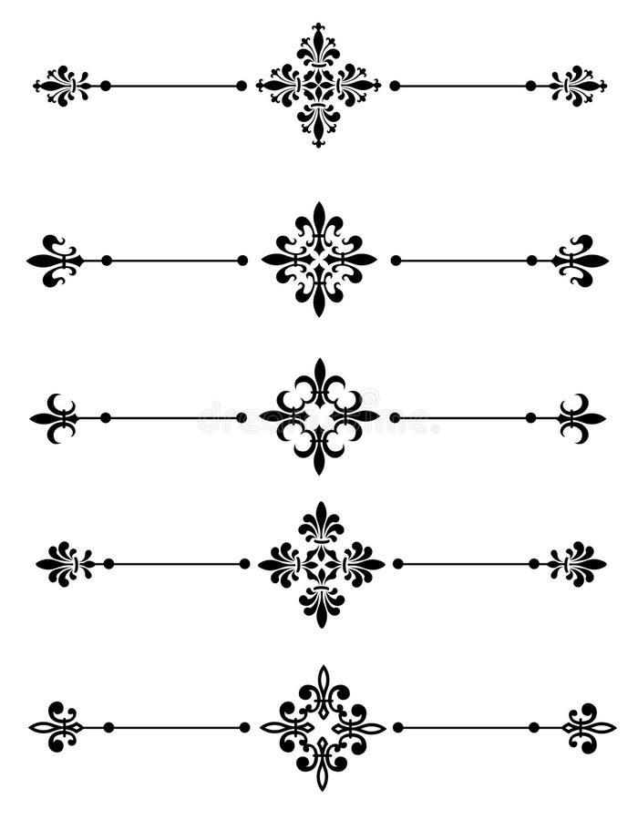 διακοσμητικός διαιρέτης διανυσματική απεικόνιση