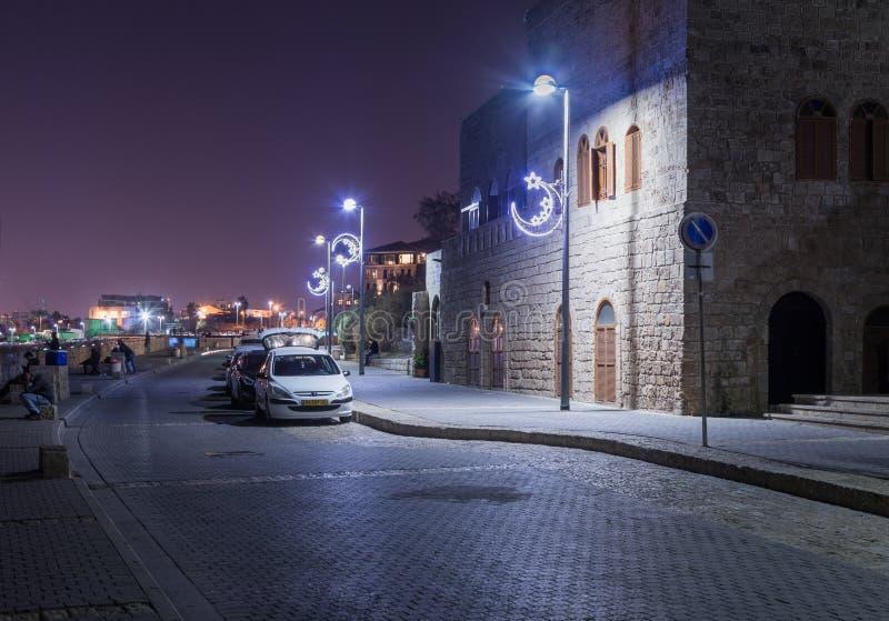 Διακοσμητικός εξωραϊσμένος περίπατος στο τηλ. aviv-Yafo στο Ισραήλ στοκ εικόνες