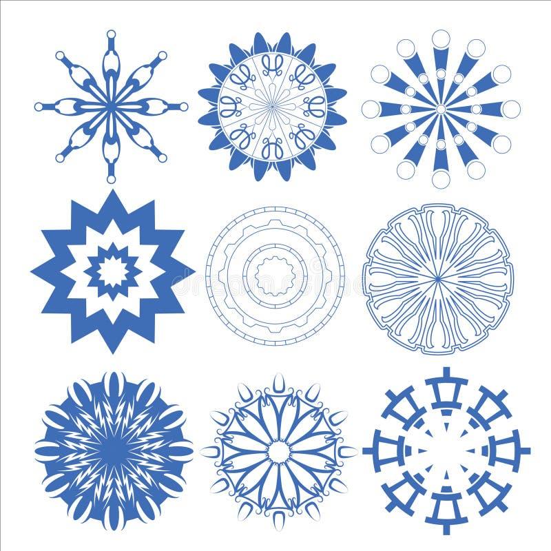 Διακοσμητικός διανυσματικός καθορισμένος κύκλος στοιχείων σχεδίου στοκ φωτογραφία