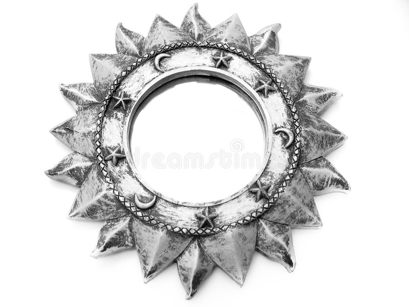Download διακοσμητικός καθρέφτης απεικόνιση αποθεμάτων. εικόνα από ασήμι - 114045