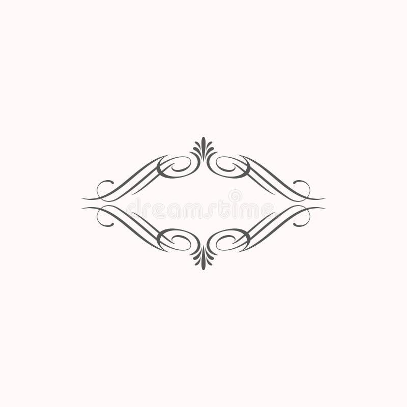 Διακοσμητικός κλασικός κομψός γωνιών συνόρων στοιχείων διανυσματική απεικόνιση