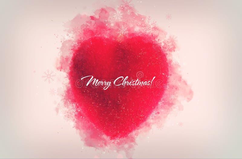 Διακοσμητικός κόκκινη διακόσμηση καρδιών για τα Χριστούγεννα ή το νέο έτος tre στοκ φωτογραφία με δικαίωμα ελεύθερης χρήσης