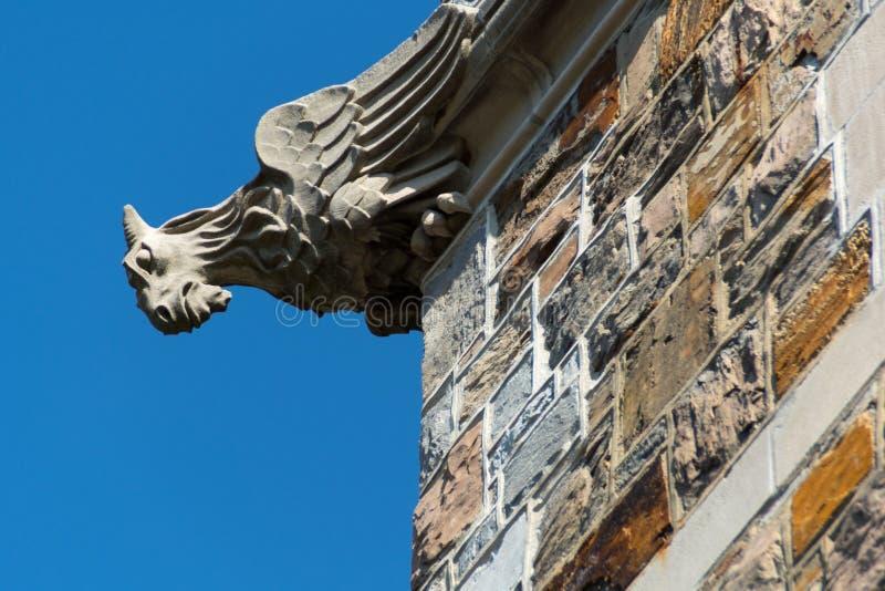 Διακοσμητικός που χαράζεται gargoyle από το 1930 στοκ εικόνα με δικαίωμα ελεύθερης χρήσης