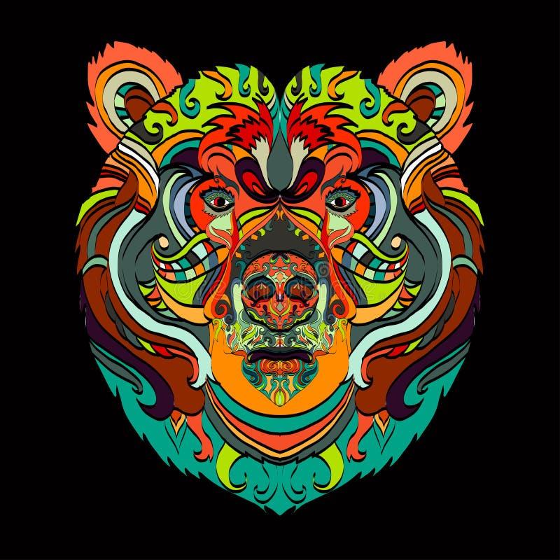 Διακοσμητικός πολύχρωμος αντέχει διανυσματική απεικόνιση