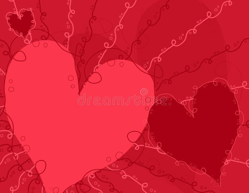 διακοσμητικός ρόδινος κόκκινος s ανασκόπησης βαλεντίνος ημέρας ελεύθερη απεικόνιση δικαιώματος