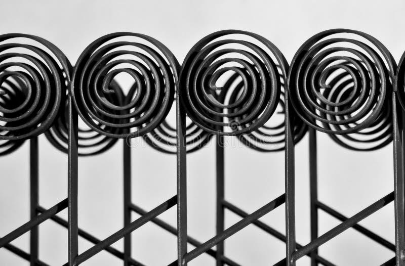 διακοσμητικός σίδηρος φραγών στοκ φωτογραφία με δικαίωμα ελεύθερης χρήσης