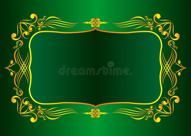 διακοσμητικός χρυσός πλ&a απεικόνιση αποθεμάτων