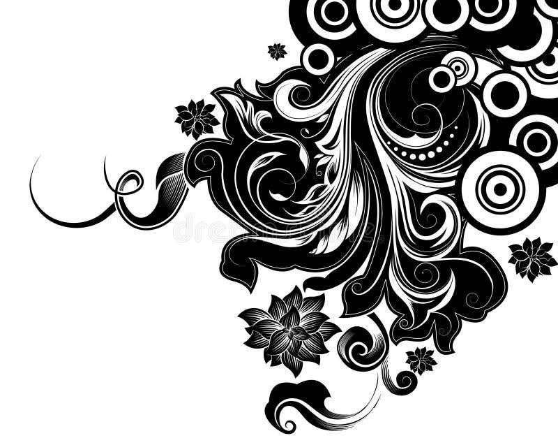 διακοσμητικός floral ανασκόπη& ελεύθερη απεικόνιση δικαιώματος