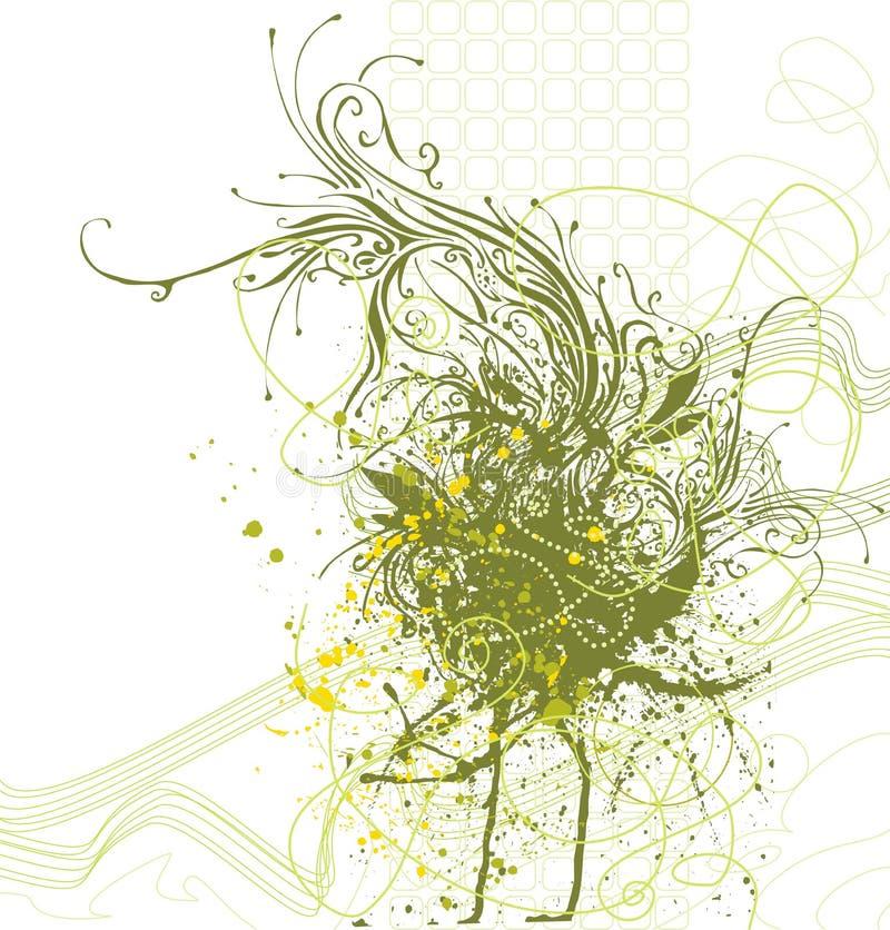 διακοσμητικός floral ανασκόπη& διανυσματική απεικόνιση