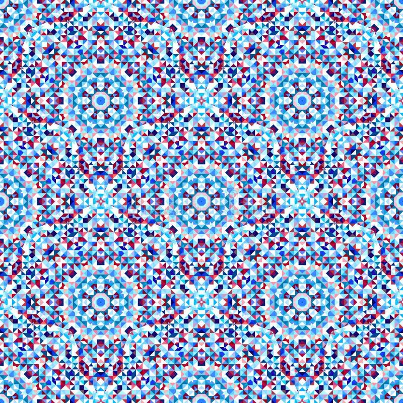 Διακοσμητικό άνευ ραφής πρότυπο Αφηρημένο γεωμετρικό διανυσματικό υπόβαθρο απεικόνιση αποθεμάτων