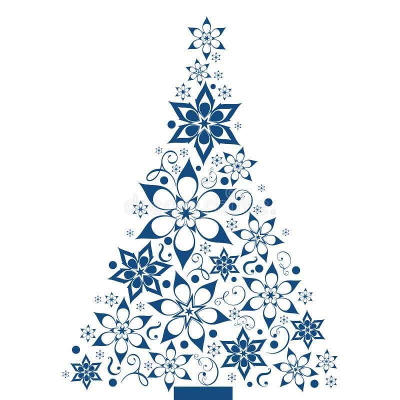 διακοσμητικό δέντρο Χρισ&ta διανυσματική απεικόνιση