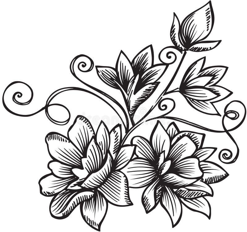 διακοσμητικό διάνυσμα απεικόνισης λουλουδιών ανθοδεσμών ελεύθερη απεικόνιση δικαιώματος