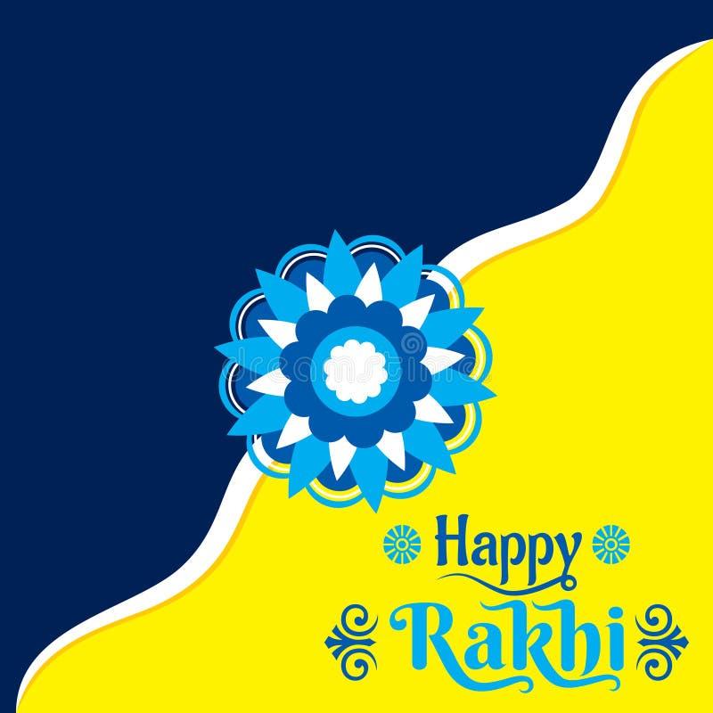 Διακοσμητικό ευτυχές σχέδιο ευχετήριων καρτών φεστιβάλ rakhi διανυσματική απεικόνιση