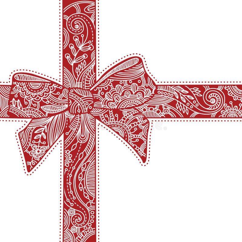 διακοσμητικό κόκκινο τόξων Στοκ Εικόνα