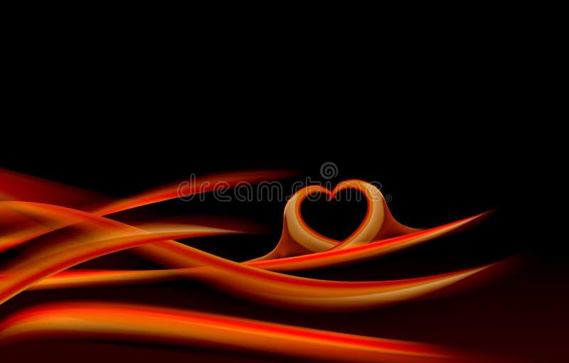 διακοσμητικό κύμα καρδιών  απεικόνιση αποθεμάτων
