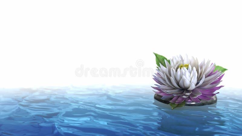 Διακοσμητικό λουλούδι ανασκόπησης διακοπών στο νερό στοκ εικόνες με δικαίωμα ελεύθερης χρήσης