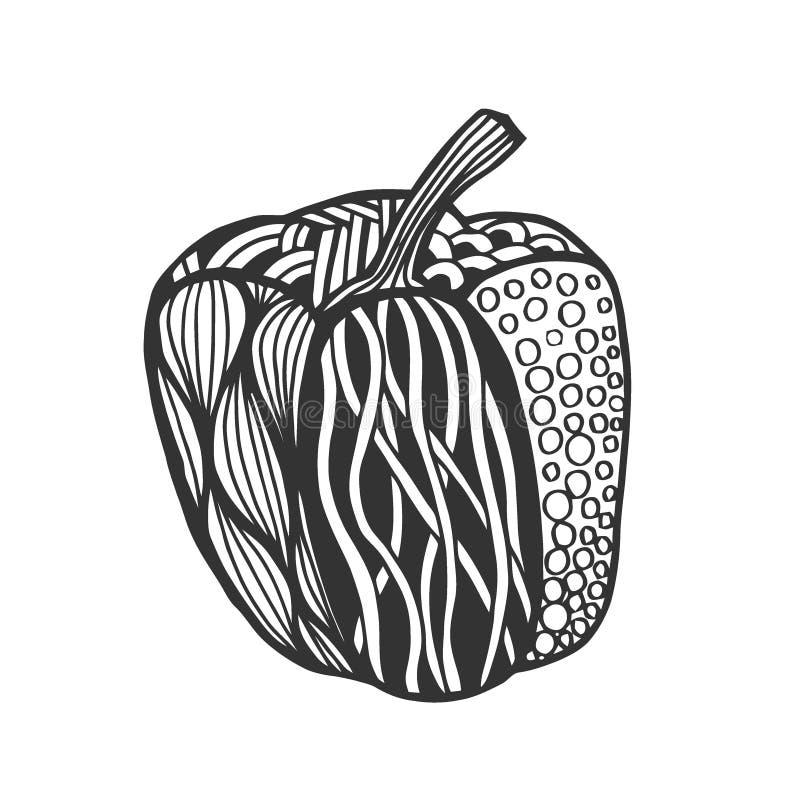 Διακοσμητικό πιπέρι κουδουνιών ελεύθερη απεικόνιση δικαιώματος