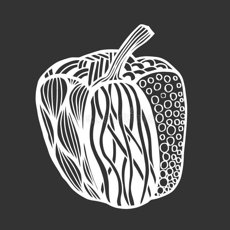 Διακοσμητικό πιπέρι κουδουνιών απεικόνιση αποθεμάτων