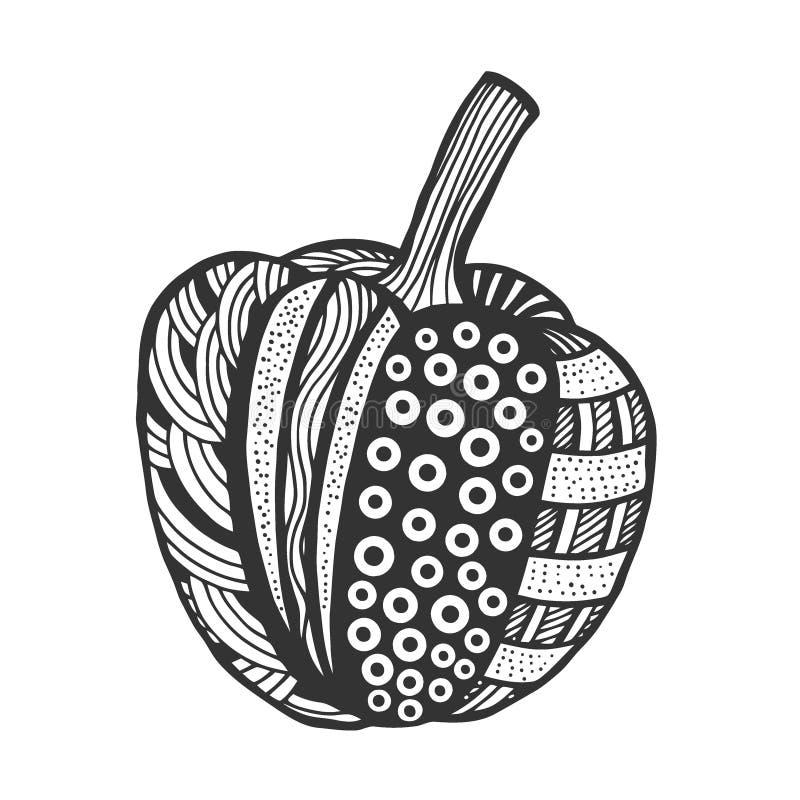 Διακοσμητικό πιπέρι κουδουνιών διανυσματική απεικόνιση