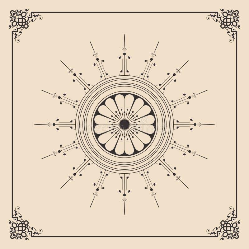 Διακοσμητικό πλαίσιο με τη διακόσμηση Nouveau τέχνης ελεύθερη απεικόνιση δικαιώματος