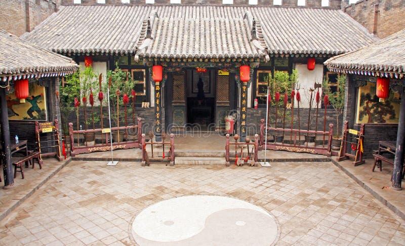 Διακοσμητικό προαύλιο ενός ιστορικού σπιτιού σε Pingyao, Κίνα στοκ φωτογραφίες με δικαίωμα ελεύθερης χρήσης