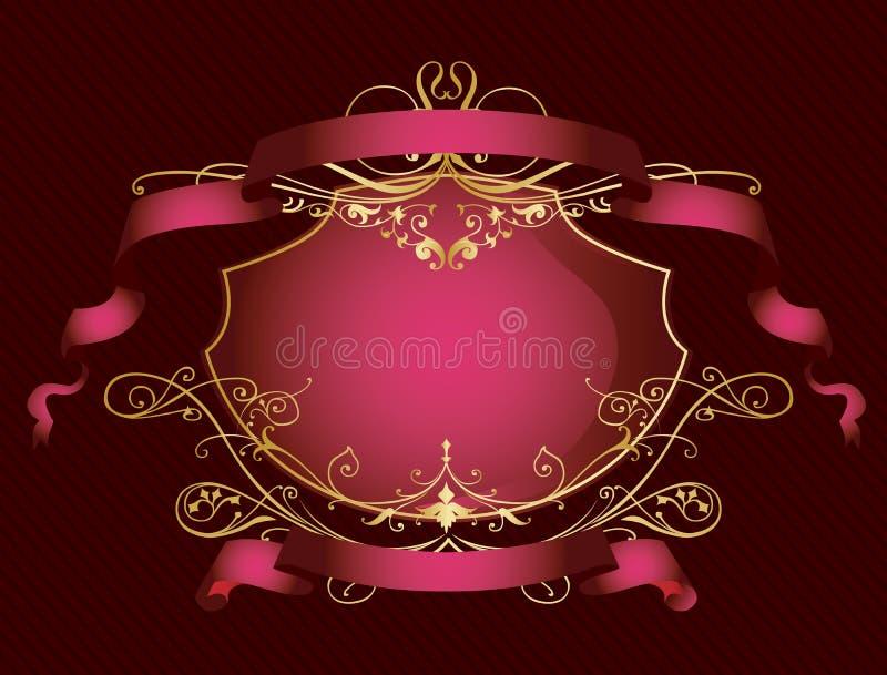 διακοσμητικό ροζ χρώματος εμβλημάτων ελεύθερη απεικόνιση δικαιώματος