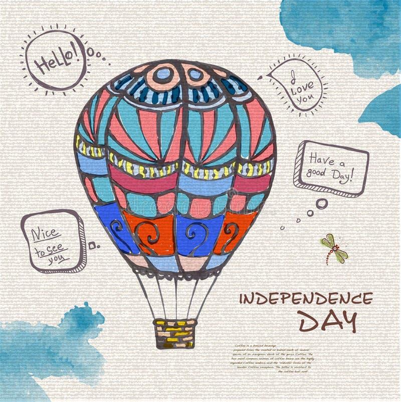 Διακοσμητικό σκίτσο του μπαλονιού απεικόνιση αποθεμάτων
