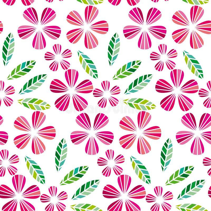 Διακοσμητικό στοιχείο σχεδίου άδειας και λουλουδιών απεικόνιση αποθεμάτων