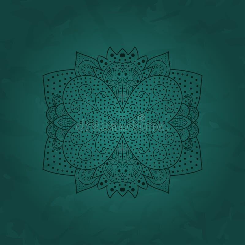 Διακοσμητικό στρογγυλό σχέδιο δαντελλών, υπόβαθρο κύκλων με πολλές λεπτομέρειες απεικόνιση αποθεμάτων