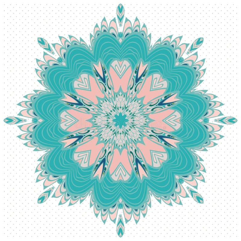 Διακοσμητικό στρογγυλό σχέδιο δαντελλών, υπόβαθρο κύκλων με πολλές λεπτομέρειες διανυσματική απεικόνιση