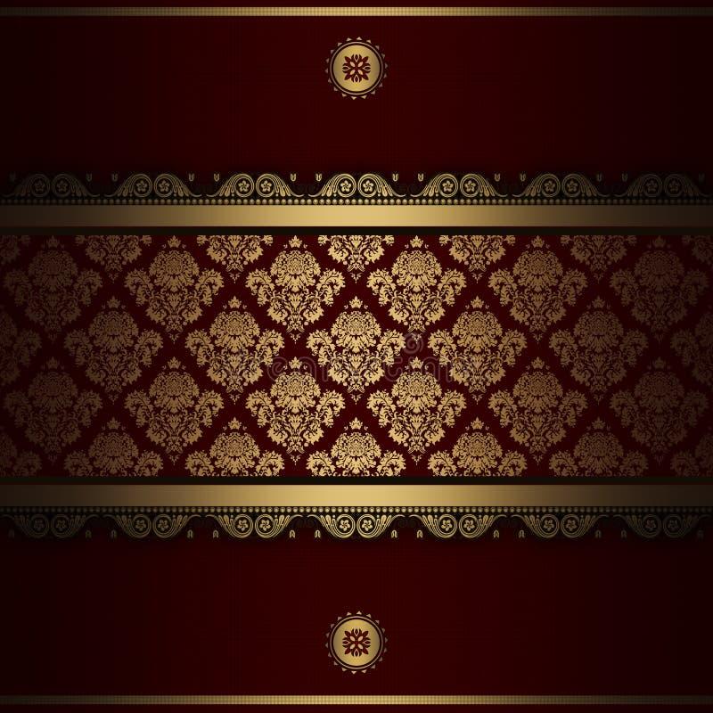 Διακοσμητικό υπόβαθρο με τα χρυσά σχέδια ελεύθερη απεικόνιση δικαιώματος