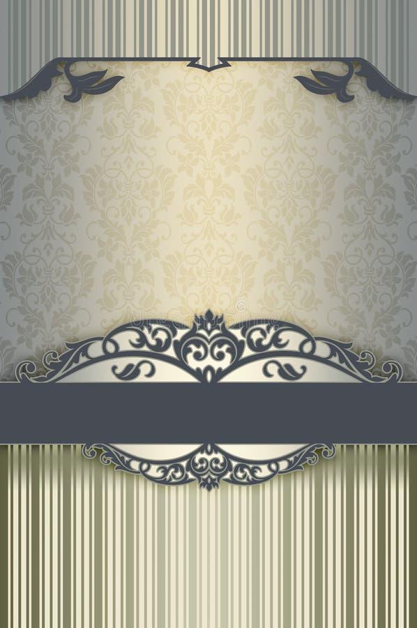 Διακοσμητικό υπόβαθρο με τα floral σχέδια και τα σύνορα απεικόνιση αποθεμάτων
