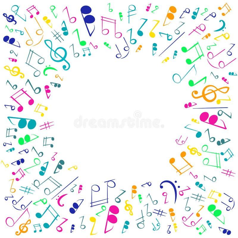 Διακοσμητικό υπόβαθρο με τις μουσικές νότες ελεύθερη απεικόνιση δικαιώματος