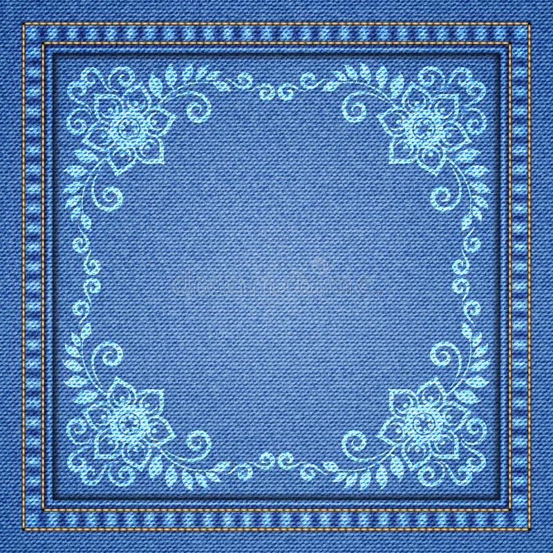 Διακοσμητικό υπόβαθρο τζιν διανυσματική απεικόνιση