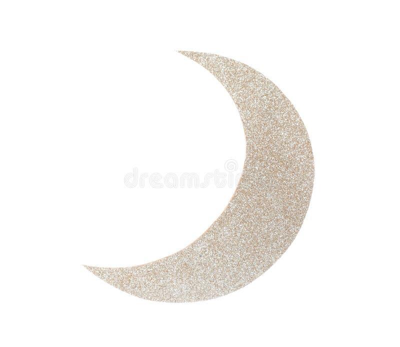 Διακοσμητικό φεγγάρι που απομονώνεται στο άσπρο υπόβαθρο στοκ εικόνες με δικαίωμα ελεύθερης χρήσης