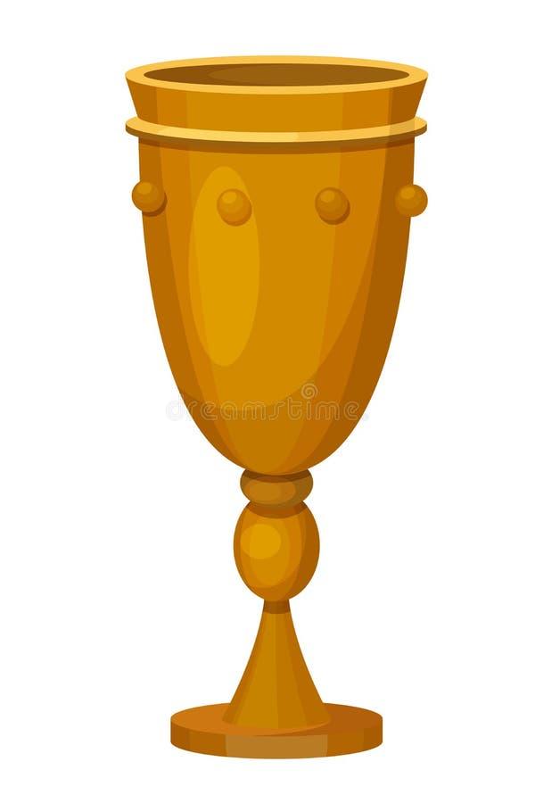 Διακοσμητικό φλυτζάνι χαλκού για τα ποτά στις θρησκευτικές διακοπές Hanukkah απεικόνιση αποθεμάτων