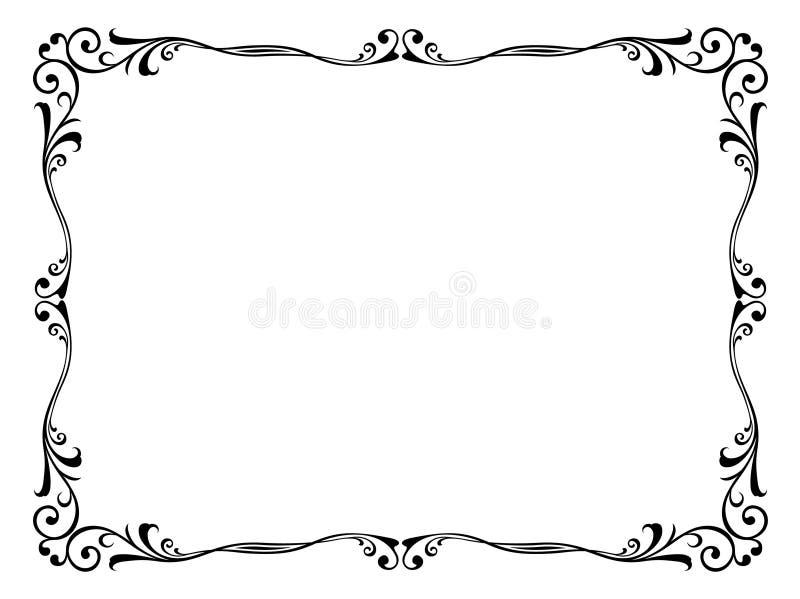 διακοσμητικό floral πλαίσιο δ& ελεύθερη απεικόνιση δικαιώματος