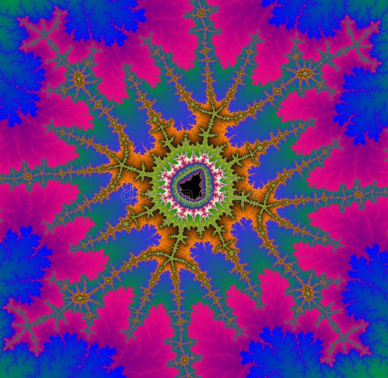 Διακοσμητικό fractal Mandelbrot στα λεπτά χρώματα απεικόνιση αποθεμάτων