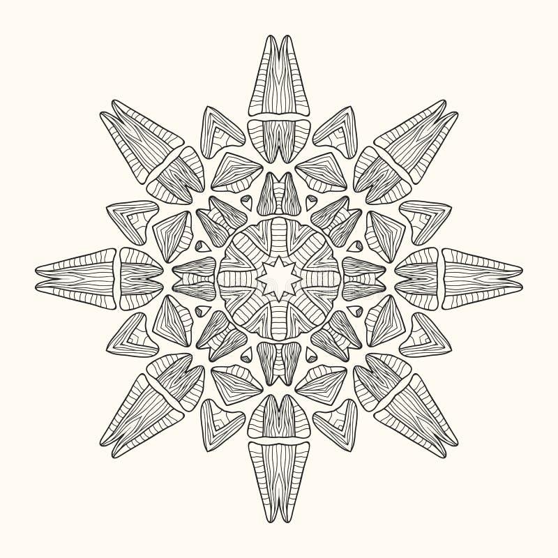 Διακοσμητικό mandala επίσης corel σύρετε το διάνυσμα απεικόνισης διανυσματική απεικόνιση
