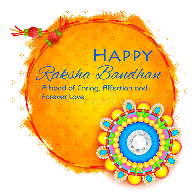 Διακοσμητικό Rakhi για το υπόβαθρο Raksha Bandhan απεικόνιση αποθεμάτων