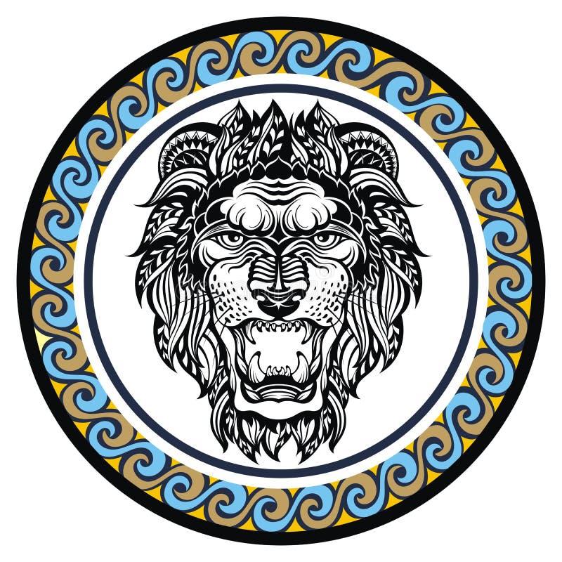 Διακοσμητικό Zodiac σημάδι Leo ελεύθερη απεικόνιση δικαιώματος