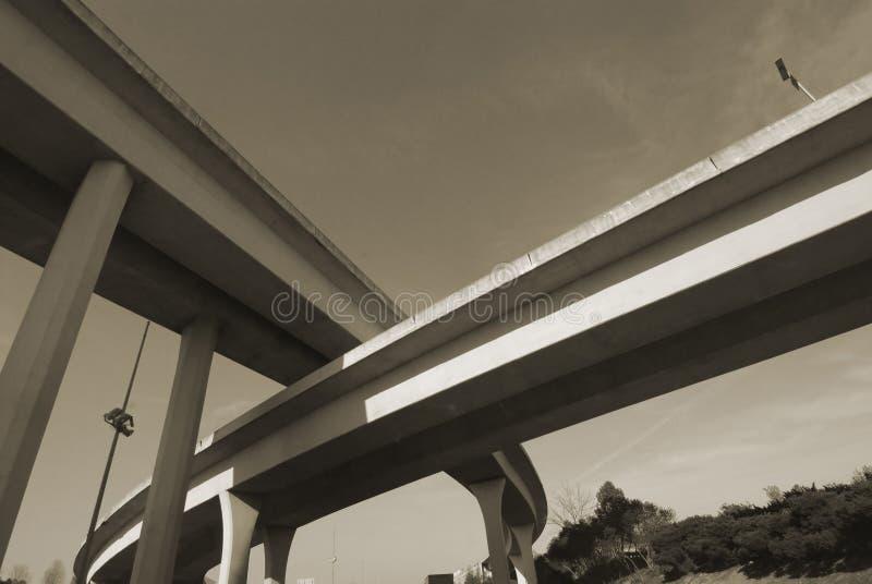 διακρατικό overpass duotone στοκ φωτογραφία με δικαίωμα ελεύθερης χρήσης
